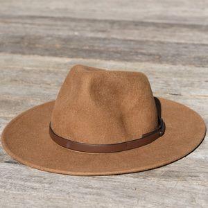 Forever 21 Wide Brim Brown Felt Hat